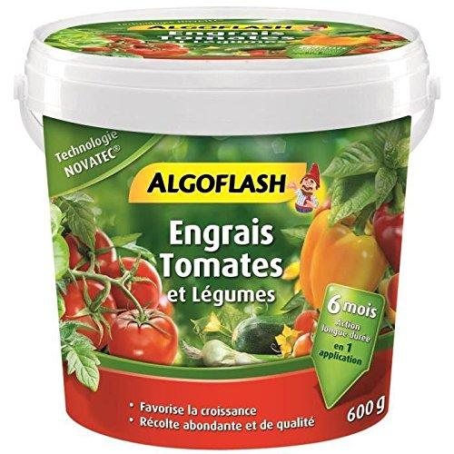 ALGOFLASH Engrais Tomates et Légumes, Action jusqu'à 6 mois, 600 g, ABAPOT600
