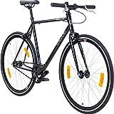 700C 28 Zoll Fixie Singlespeed Bike Galano Blade 5 Farben zur Auswahl, Rahmengrösse:53 cm, Farbe:schwarz/schwarz