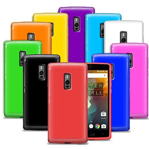 G-HUB® 10-in-1 Silicone Cases für OnePlus 2 SmartPhone (ONE PLUS TWO - 2015 Dual SIM Modell) - 10 VERSCHIEDENE FARBEN der Schutzhülle in diesem Handytasche Zubehörpaket