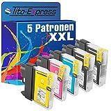 PlatinumSerie® Set 5x Patrone XXL kompatibel für Brother LC1100 DCP-395CN DCP-585CW DCP-6690CW