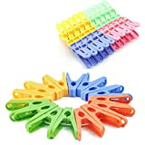 #5: URVI Creation Pack of 20 Cloth Plastic Clips Multi Color Clothes Pegs for Drying