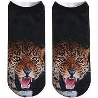 Zolimx Paar Socken 3D Tiger Lion gedruckt lustige Kurze Socken Graffiti gedruckt Fußkettchen Socken