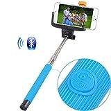 ONX3 (Blau) Huawei P8 Lite Universal-Bluetooth-Wireless-Selfie Stock-Einbeinstativ integrierte Fach Remote Shutter Sized