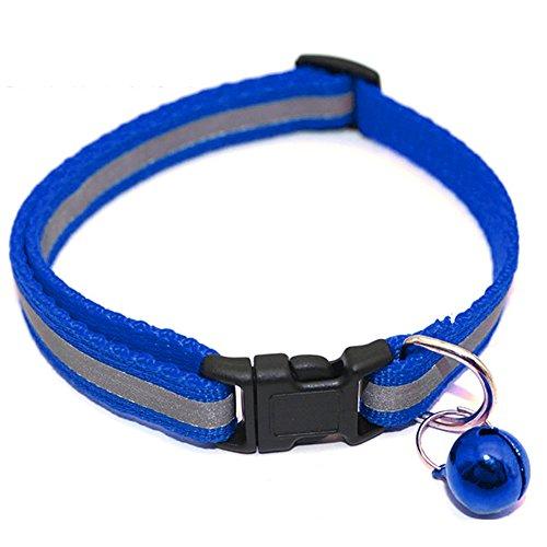 Trifycore Reflektierende Halsband Katze mit Bell-Haustier-Kragen Gutmaterial für Katzen Hunde und Kleintiere (blau), kleine Bestände von Tieren (Vollständige Tier Kostüm)