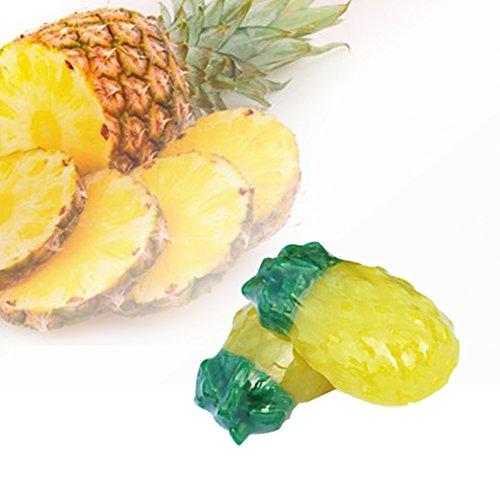 Ananas-Frucht-Geruch-Seifen-Stange für die Gesichtsreinigung handgemachte reiche feine Blasen-leichte Baden-Seife