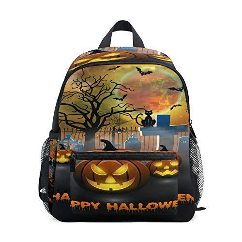 Daypack gruselig Pumbkin Halloween Vorschule Kindergarten Kleinkind Tasche für Reisen Mädchen Jungen ()