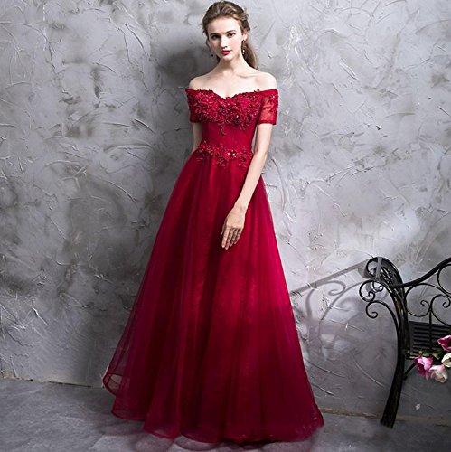f816d3bfe8c LUCKY-U Mujer Vestido Largo Elegante Fiesta Ropa de Mujeres Vestido de Boda  Nupcial Dama de Honor Banquete Nocturno Decoración excepcional