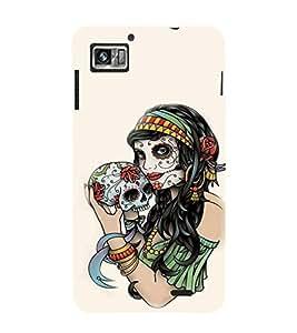 Fiobs Designer Phone Back Case Cover Lenovo K860 :: Lenovo IdeaPhone K860 ( Indian Women With Tattoo )