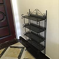 eisen - rack - mehrschichtige schuh rack regal boden foyer rack regal einfach.,123 cm × 29 × 60