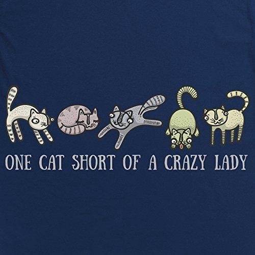 Crazy Cat Lady T-shirt, Uomo Blu navy