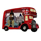 "Charming ""Best of London"" Refrigerator Magnet Souvenir! London Bus / Routemaster / Red Bus / Route Master Souvenir / Speicher / Memoria! A Colourful and Collectible Souvenir! Aimant / Magnet / Magnete / Imán!"