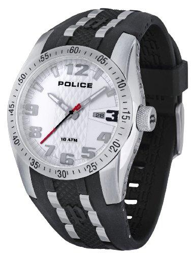 Police - P12557JS-01 - Montre Homme - Quartz - Analogique - Bracelet Caoutchouc Noir