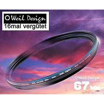 Polfilter POL 67 circular slim XMC Digital Weil Design Germany - SYOOP - * Kräftigere Farben * mit Frontgewinde, * 16 fach XMC vergütet * inkl. Filterbox * zirkulare 52, 55, 58, 62, 67, 72, 77, 82 mm (POL Filter 67mm)