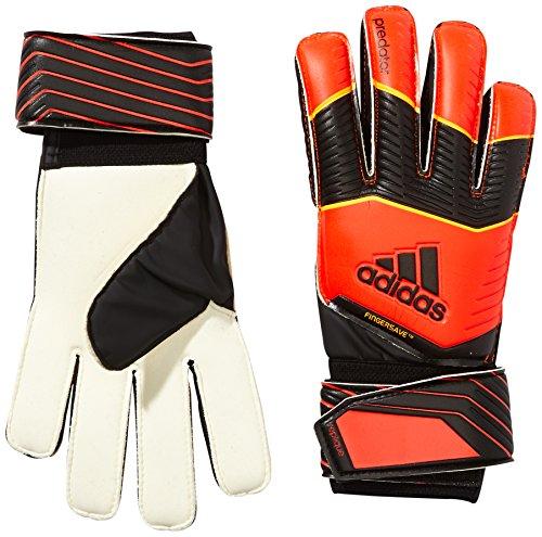 Adidas, Guanti Uomo Predator Fingersave Replique, Multicolore (Solar Red/Black/Solar Gold), XXL