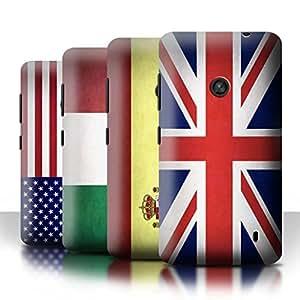 Stuff4 Hülle / Hülle für Nokia Lumia 520 / Multipack (43 Designs) / Flagge Kollektion