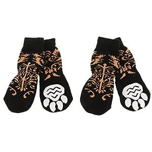 Sharplace 4pcs Chaussures pour Grand Chien Animaux Chaussettes Chauffages Antidérapantes Etanche Imprimé