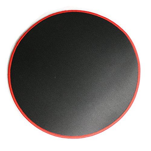 Woodland Kleine runde geformte Gaming Mouse Pad gen?hte Kanten Geschwindigkeit Seidig glatte Oberfl?che rutschfeste Gummiunterseite Mats 310x310x3mm / 12.2x12.2x0.12 Zoll roten R?ndern