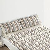 Burrito Blanco - Juego de sábanas 437 para cama 105x190/200 cm, color beige