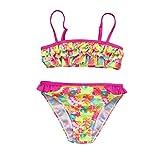 QUICKLYLY Rope Bebe, 2PCS Bañadores para Niñas Bikini Conjunto Traje de Vendaje Baño Flor Impresión Volantes Top +Cintura Alta Inferior (12Meses)