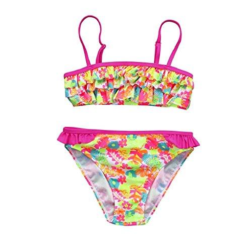 QUICKLYLY Rope Bebe, 2PCS Bañadores para Niñas Bikini Conjunto Traje de Vendaje Baño Flor Impresión...