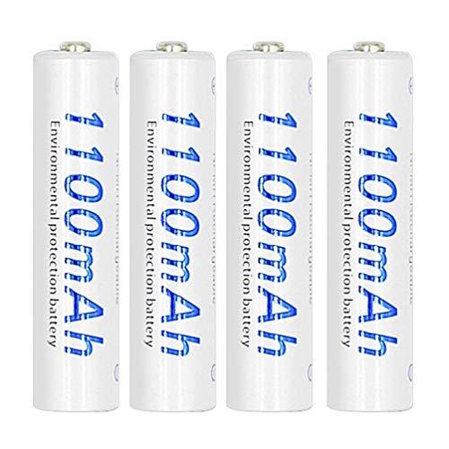 TAOHOU Palo 4pcs / Set Batería Ni-MH Recargable AAA 1100mAh ecológica