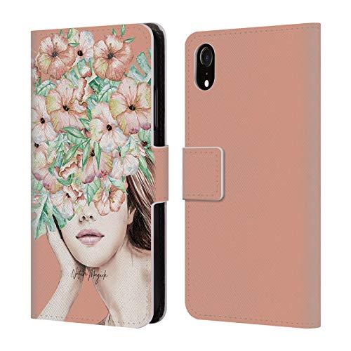 Head Case Designs Offizielle Nature Magick Koralle Insel Frau Mit Blumen Leder Brieftaschen Huelle kompatibel mit iPhone XR (Die Korallen Insel)
