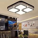 MYHOO 64W Deckenleuchte LED Deckenlampe Warmweiß Schlafzimmer Flurleuchte Wohnzimmer Modern Design [Energieklasse A++]