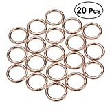 ULTNICE 20 Stück Runde Karabinerhaken Schlüsselanhänger Sprung Ringe (Gold)