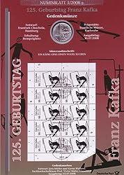 """Goldhahn BRD Bund Numisblatt 3/2008 """"125. Geburtstag Kafka Briefmarken für Sammler"""