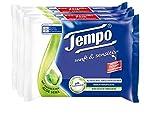 Tempo Feuchte Toilettentücher sanft & sensitiv, parfümfreie Feuchttücher mit natürlicher Aloe Vera, 4 x 42 Tücher (168 Tücher)