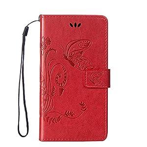 Cozy Hut Tasche Hülle für HTC One M8 (5 Zoll) Flip Schutzhülle Zubehör Lederhülle mit Silikon Back Cover PU Leder Handytasche im Bookstyle Stand Funktion Kartenfächer Magnet Etui Schale