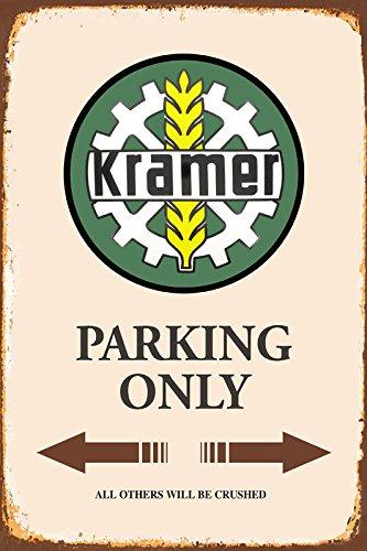 Krämer Traktor Parking only blechschild