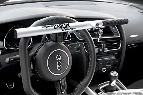 Preisvergleich Produktbild Kleinmetall Carlok Auto Diebstahlsicherung Lenkradkralle Absperrstange (Silber)