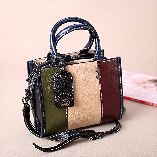 Singola spalla tote bag/Litchi pattern vacchetta lato piccolo semplice sacchetto femmina,C D
