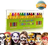 GiBot Pintura Facial y corporales, 16 Colores Pintura Corporal y Facial Body Paint, Maquillaje Carnival Set para niño, no tóxico, Easy on y Off