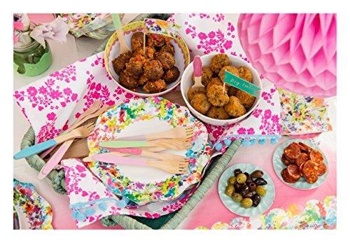 Preisvergleich talking tables floral fiesta kleine for Bunte pappteller