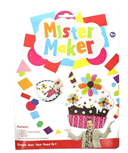 Mister Maker Cupcake Erdbeere-Perlenkunst mit Bild, Perlen & Klebestift (Perlen-maker)