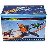 Delta Canvas Toy Box Disney Planes - Caja de almacenamiento para juguetes, diseño de película Aviones, color azul