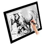 Littlegrasseu Mesa de Luz Dibujo A4 LED Tableta Caja de Iluminación Micro USB Ajustable Brillante Ideal para Animacion Tatoo Dibuja