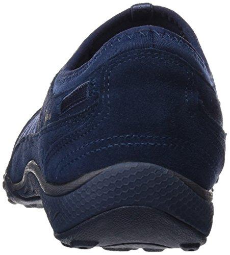 Skechers Breathe Easy Moneybags, Baskets Basses Femme Bleu (Nvy)