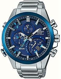 50c6def8fa7e Casio Reloj Cronógrafo para Hombre de Energía Solar con Correa en Acero  Inoxidable EQB-501DB