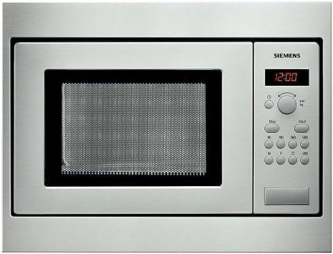 Siemens HF 15M 551 Four à Micro Ondes Classique Intégrable 28 cm 17 L 800 W Inox et Noir