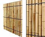 Bambuswand mit dicken Rohren 150x120cm online bestellen Sichtschutzwand Sichtschutz für Garten Terasse - Wind und Sonnenschutz
