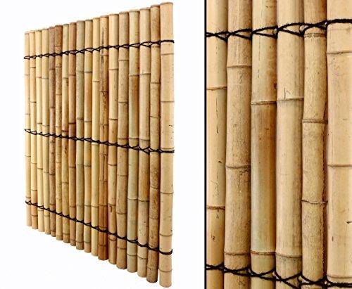 Bambuswand mit dicken Rohren 150x120cm online bestellen Sichtschutzwand Sichtschutz für Garten...
