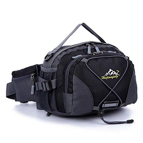 guguluza Taille stabiler Unisex wasserabweisend Robuste Unisex Gym Running Outdoor Wandern Fanny-Pack mit Wasser Flasche für Einheitsgröße schwarz (Fanny-packs Wasser-flaschen)