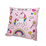 Funda de cojín colorida con forma de unicornio para decoración del hogar o dormitorio