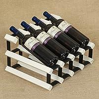LHY Estante para vinos, Adornos de Madera Maciza Soporte de Madera Estante estándar para Botellas