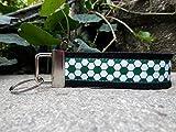 Schlüsselanhänger Schlüsselband Wollfilz schwarz Fußball weiß grün Geschenk!