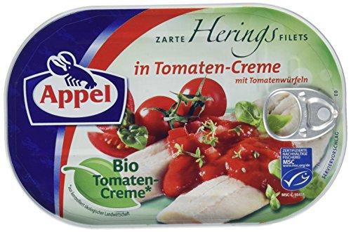 Appel Heringsfilets, zarte Fisch-Filets in Bio-Tomaten-Creme, MSC zertifiziert, 200 g