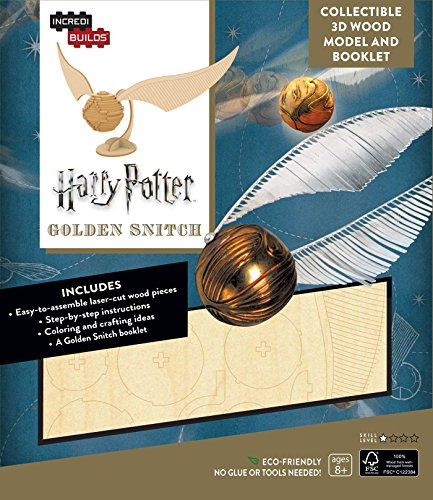 Incredibuilds Harry Potter Golden Snitch: 3d Wood Model and Booklet